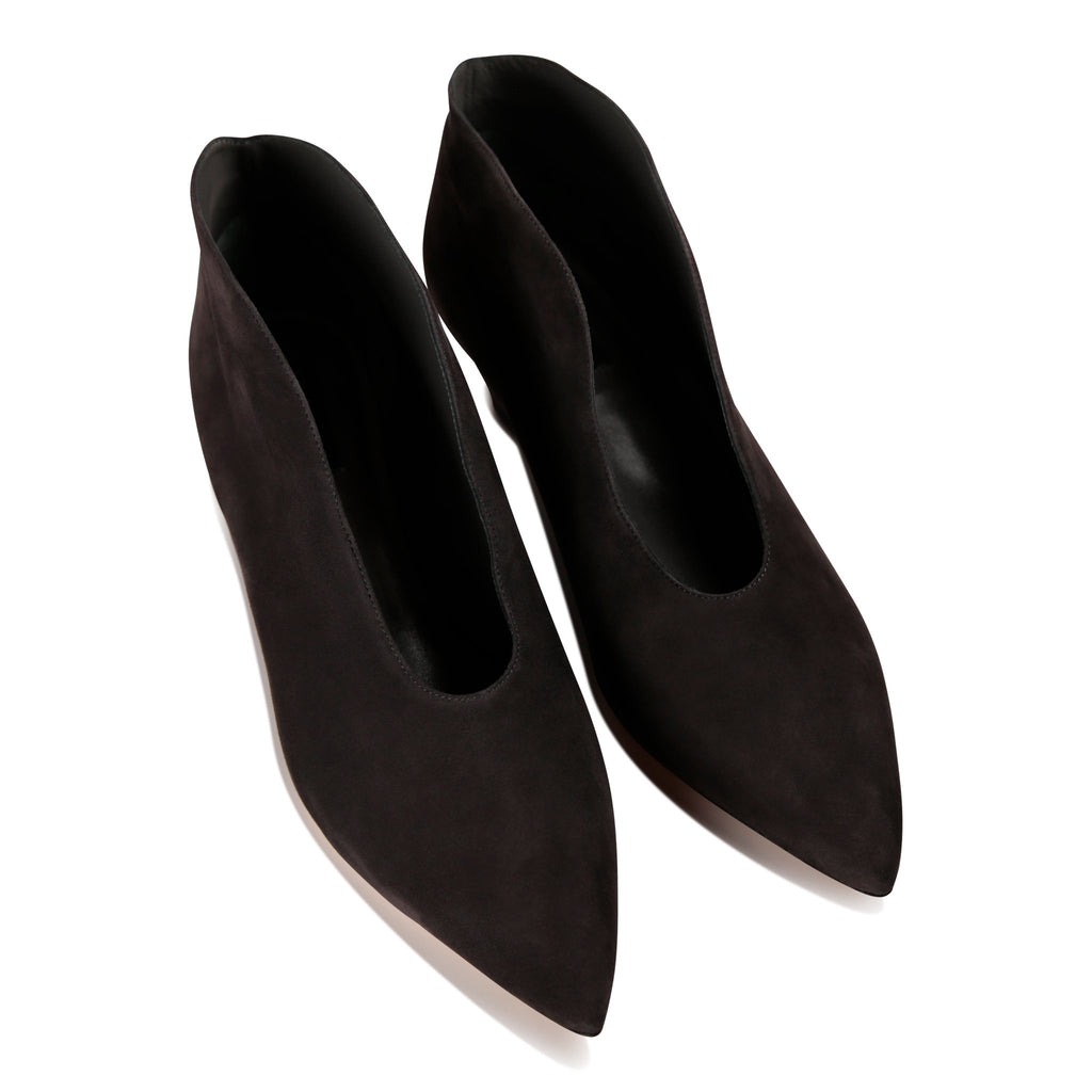 URBINO - Velukid Slate, VIAJIYU - Women's Hand Made Sustainable Luxury Shoes. Made in Italy. Made to Order.