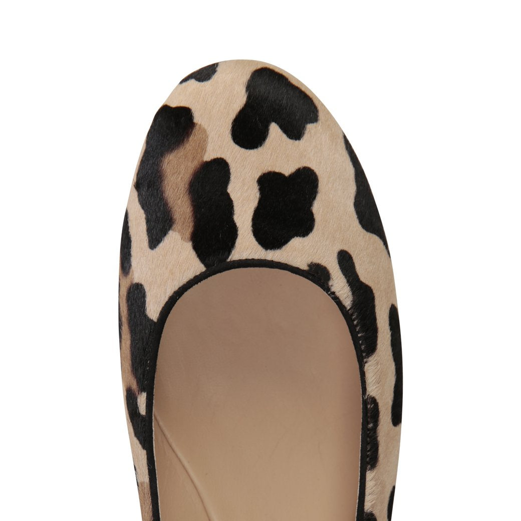 VENEZIA - Calf Hair Leopardo, VIAJIYU - Women's Hand Made Sustainable Luxury Shoes. Made in Italy. Made to Order.