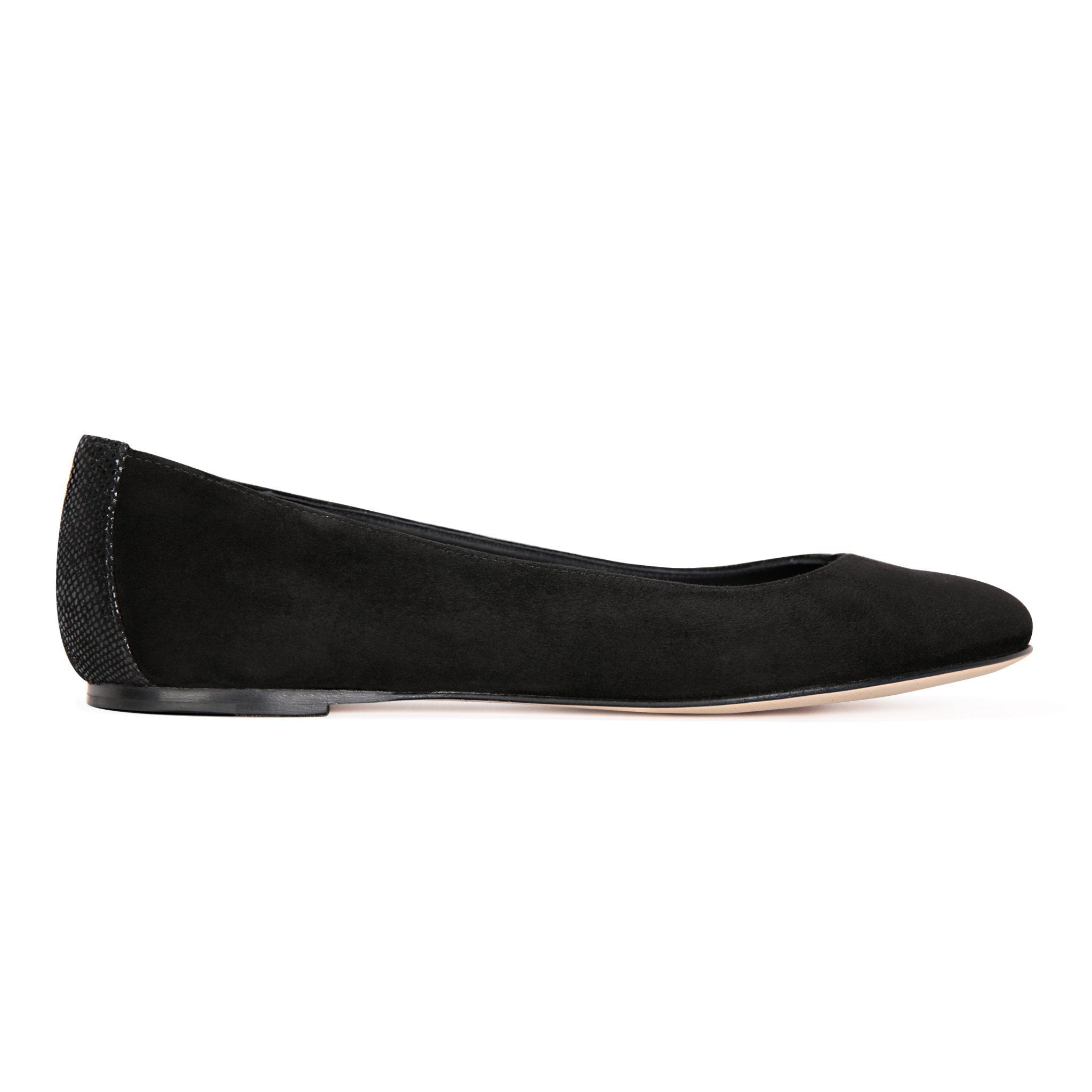 VENEZIA - Velukid Nero + Karung Back, VIAJIYU - Women's Hand Made Sustainable Luxury Shoes. Made in Italy. Made to Order.