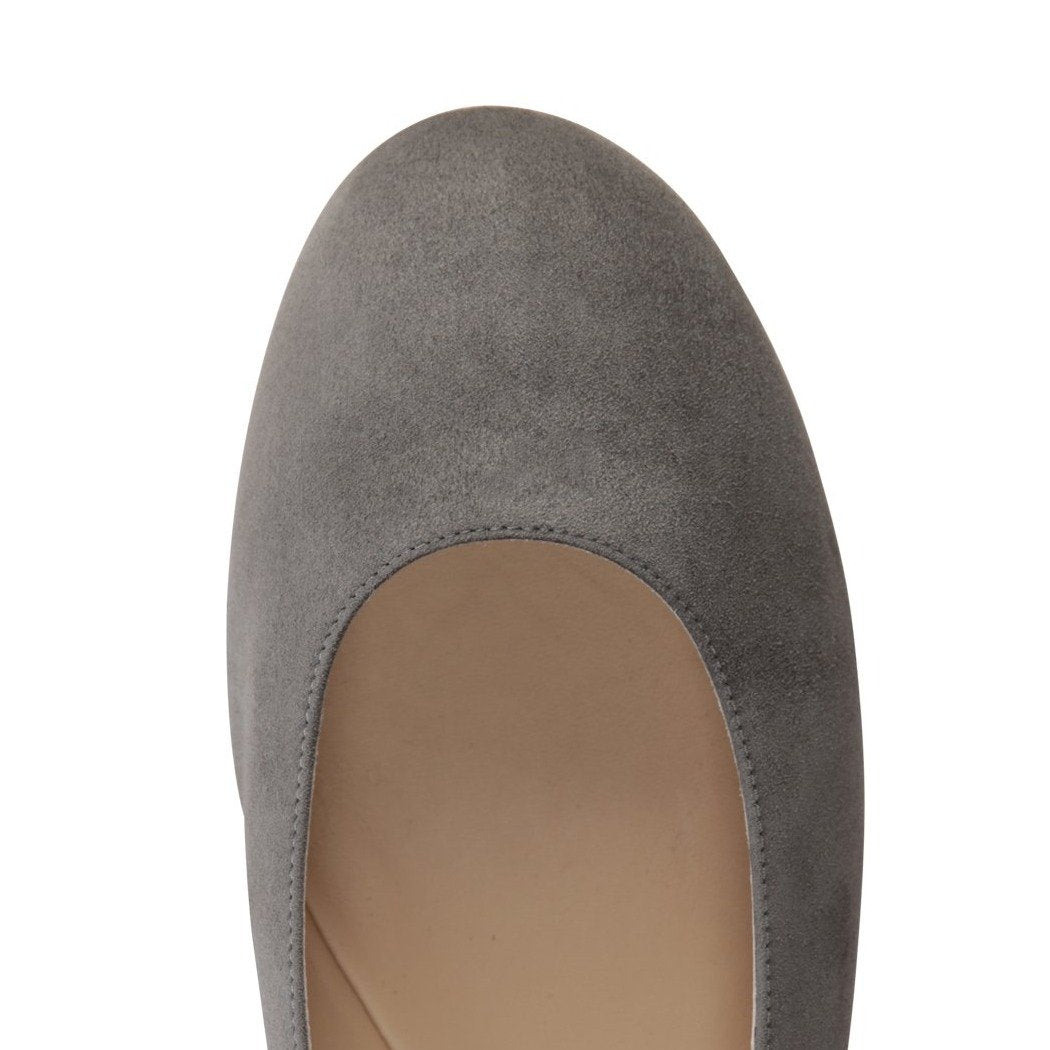 VENEZIA - Velukid Anthracite, VIAJIYU - Women's Hand Made Sustainable Luxury Shoes. Made in Italy. Made to Order.