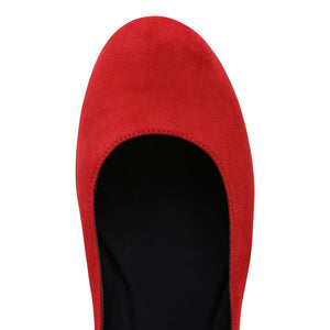 VENEZIA - Velukid Rosso + Nero Stripe, VIAJIYU - Women's Hand Made Sustainable Luxury Shoes. Made in Italy. Made to Order.