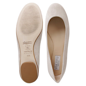 VENEZIA - Velukid Toasted Almond, VIAJIYU - Women's Hand Made Sustainable Luxury Shoes. Made in Italy. Made to Order.