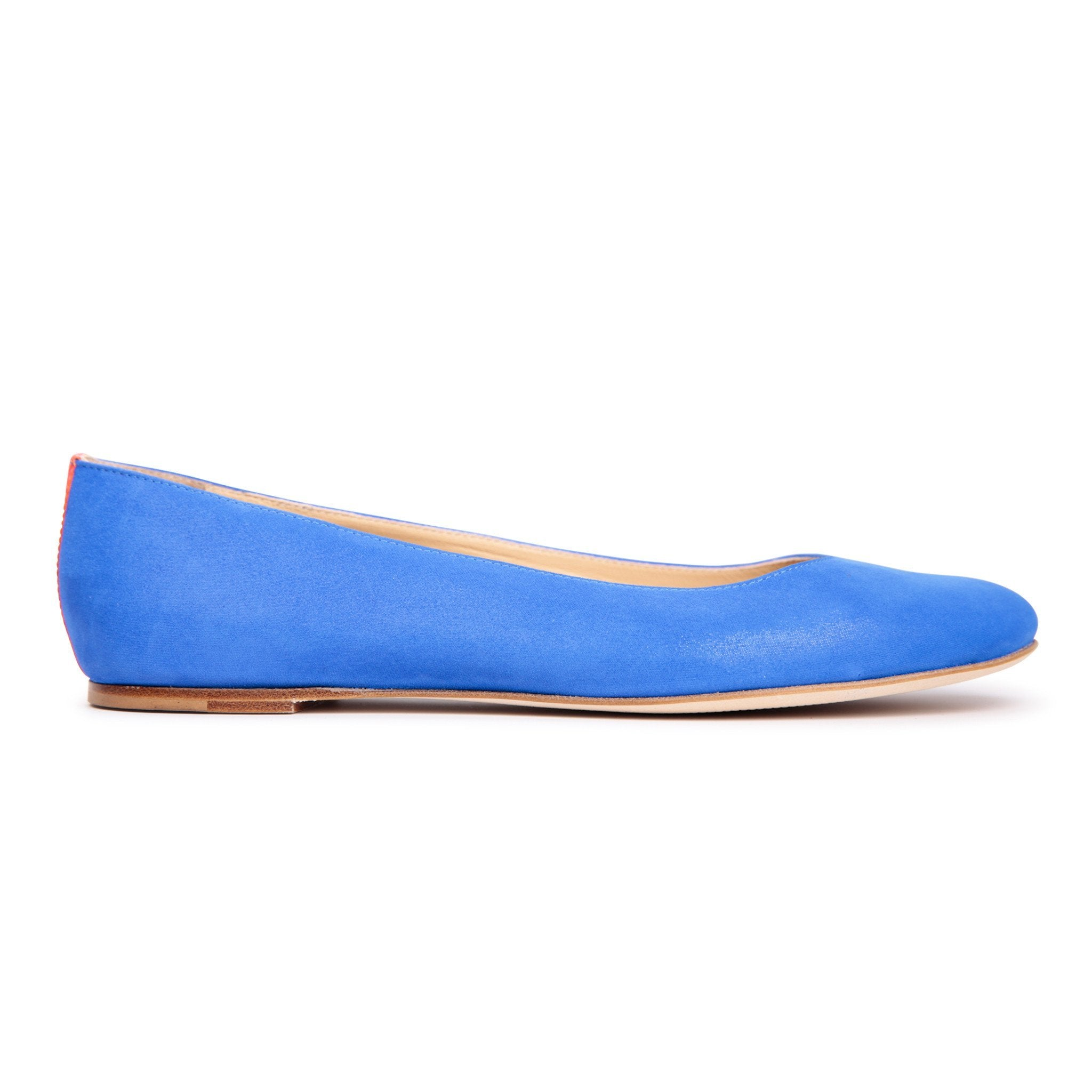 VENEZIA - Hydra Cobalt + Patent Tuscan Sunset, VIAJIYU - Women's Hand Made Sustainable Luxury Shoes. Made in Italy. Made to Order.