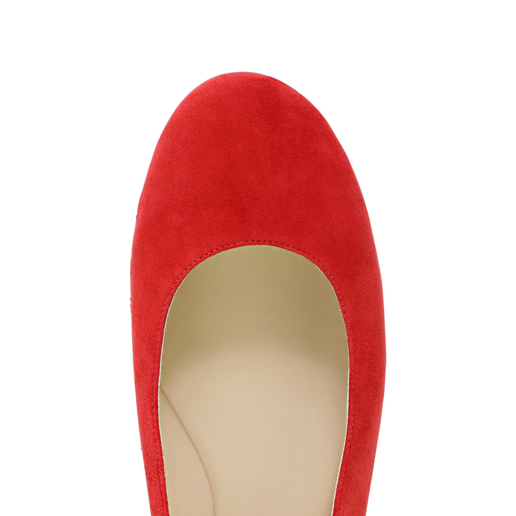 VENEZIA - Velukid Rosso, VIAJIYU - Women's Hand Made Sustainable Luxury Shoes. Made in Italy. Made to Order.