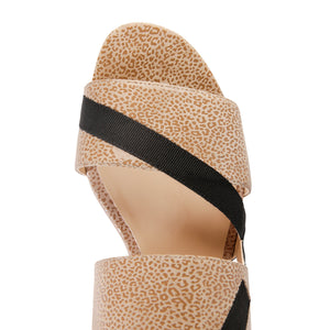 VERNAZZA - Savannah Tan + Grosgrain Nero, VIAJIYU - Women's Hand Made Sustainable Luxury Shoes. Made in Italy. Made to Order.