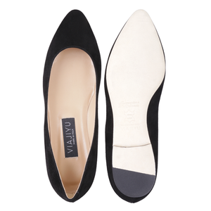 SIENA - Velukid Nero, VIAJIYU - Women's Hand Made Sustainable Luxury Shoes. Made in Italy. Made to Order.