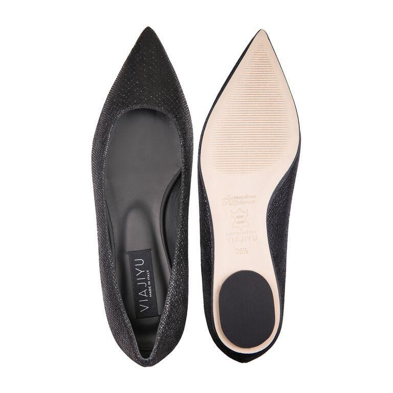 COMO - Karung Nero + Nero Insole, VIAJIYU - Women's Hand Made Sustainable Luxury Shoes. Made in Italy. Made to Order.