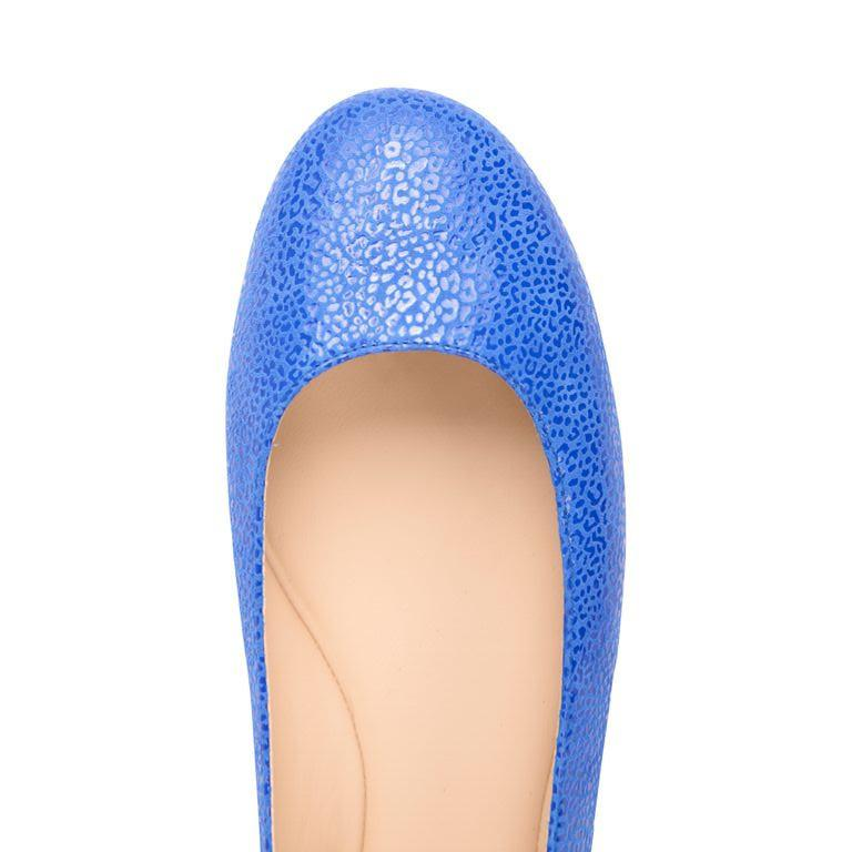 VENEZIA - Savannah Cobalt + Patent Tuscan Sunset, VIAJIYU - Women's Hand Made Sustainable Luxury Shoes. Made in Italy. Made to Order.