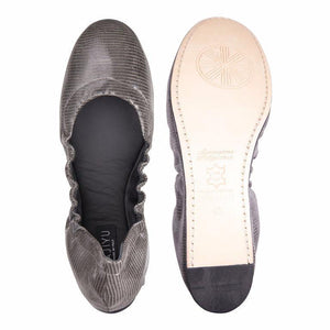 PORTOFINO - Varanus Anthracite, VIAJIYU - Women's Hand Made Sustainable Luxury Shoes. Made in Italy. Made to Order.