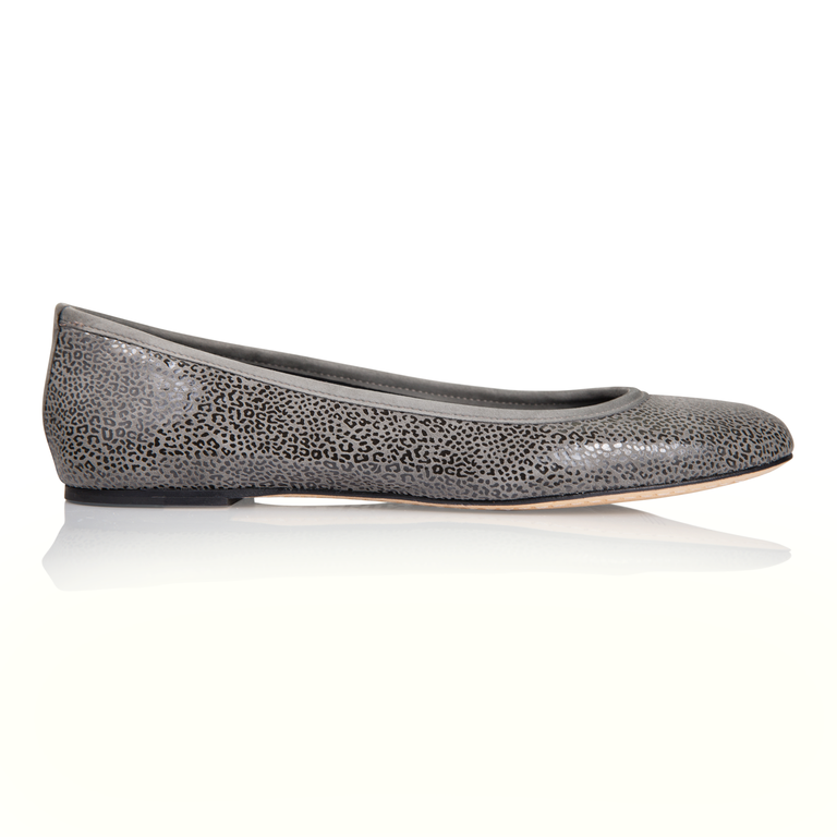 VENEZIA - Savannah + Velukid Anthracite, VIAJIYU - Women's Hand Made Sustainable Luxury Shoes. Made in Italy. Made to Order.