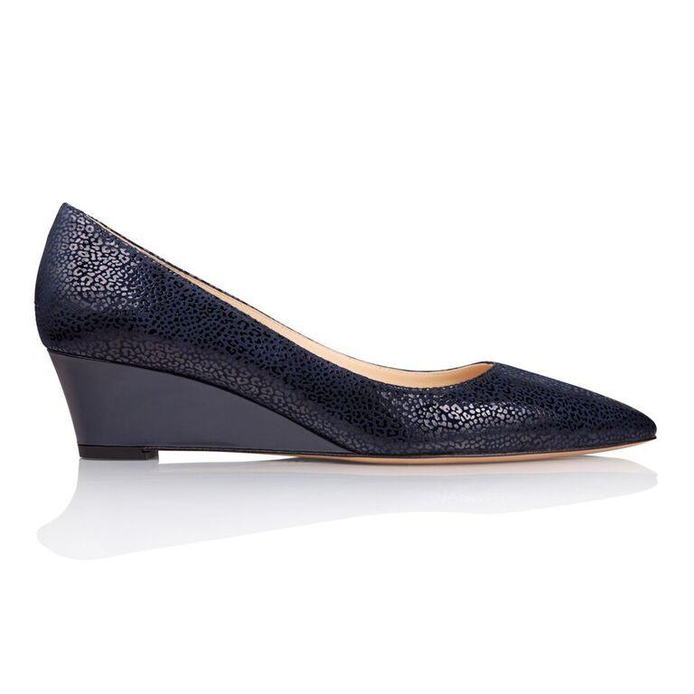 TRENTO - Savannah + Patent Midnight, VIAJIYU - Women's Hand Made Sustainable Luxury Shoes. Made in Italy. Made to Order.