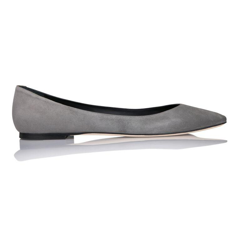 SIENA - Hydra Anthracite, VIAJIYU - Women's Hand Made Sustainable Luxury Shoes. Made in Italy. Made to Order.