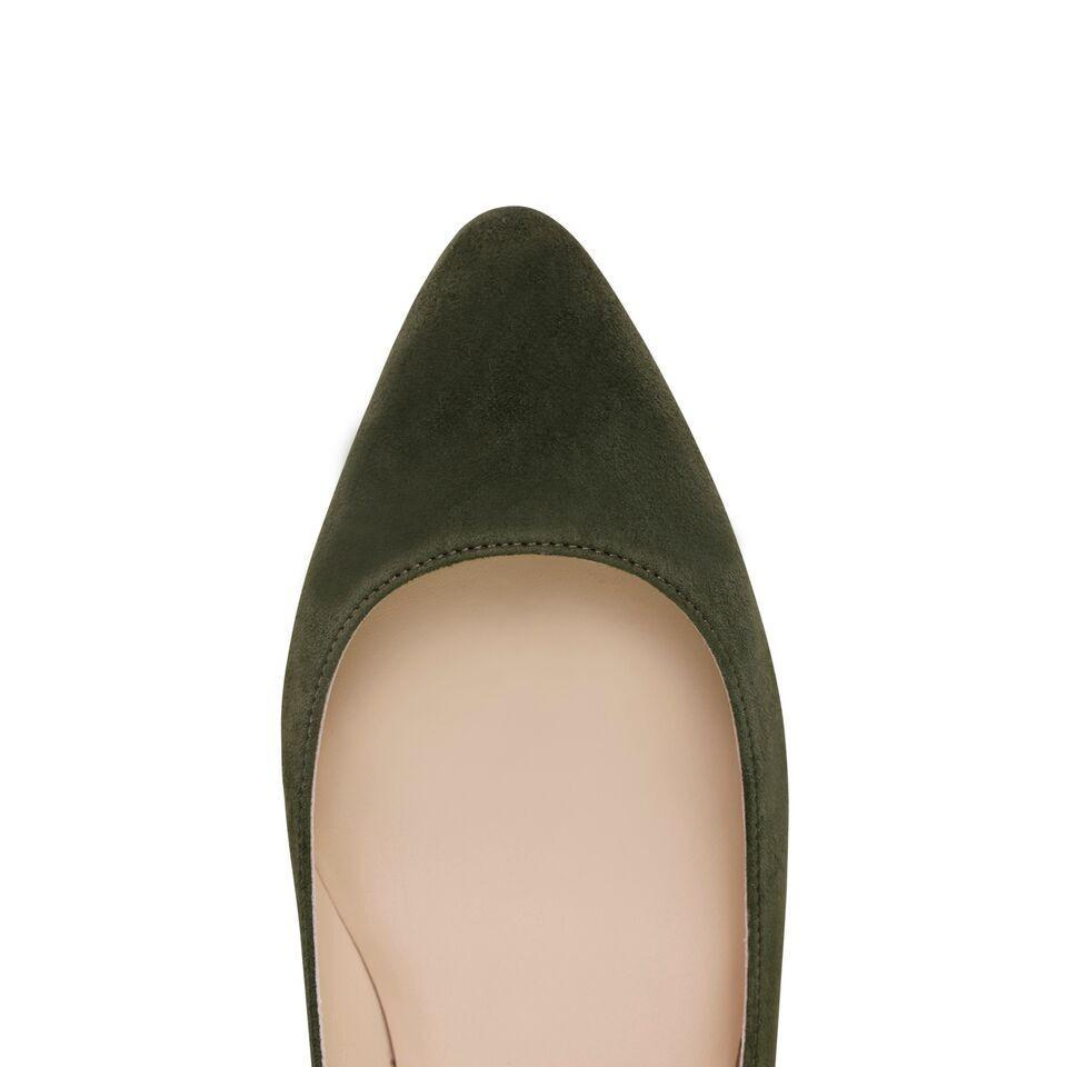 SIENA - Velukid Moss, VIAJIYU - Women's Hand Made Sustainable Luxury Shoes. Made in Italy. Made to Order.