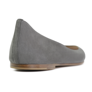 TORINO - Velukid Anthracite, VIAJIYU - Women's Hand Made Sustainable Luxury Shoes. Made in Italy. Made to Order.