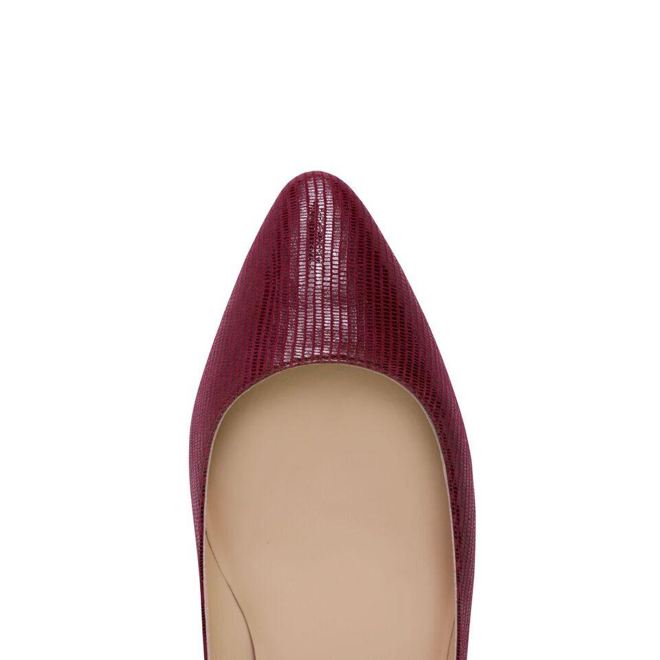 SIENA - Varanus Bordeaux, VIAJIYU - Women's Hand Made Sustainable Luxury Shoes. Made in Italy. Made to Order.