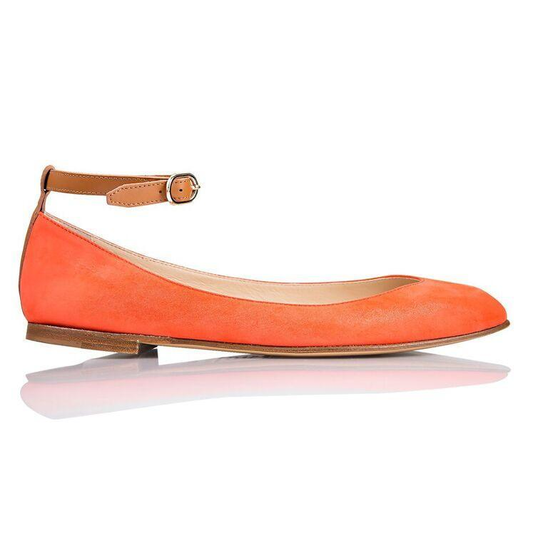 TORINO - Hydra Tuscan Sunset + Calf Cuoio, VIAJIYU - Women's Hand Made Sustainable Luxury Shoes. Made in Italy. Made to Order.