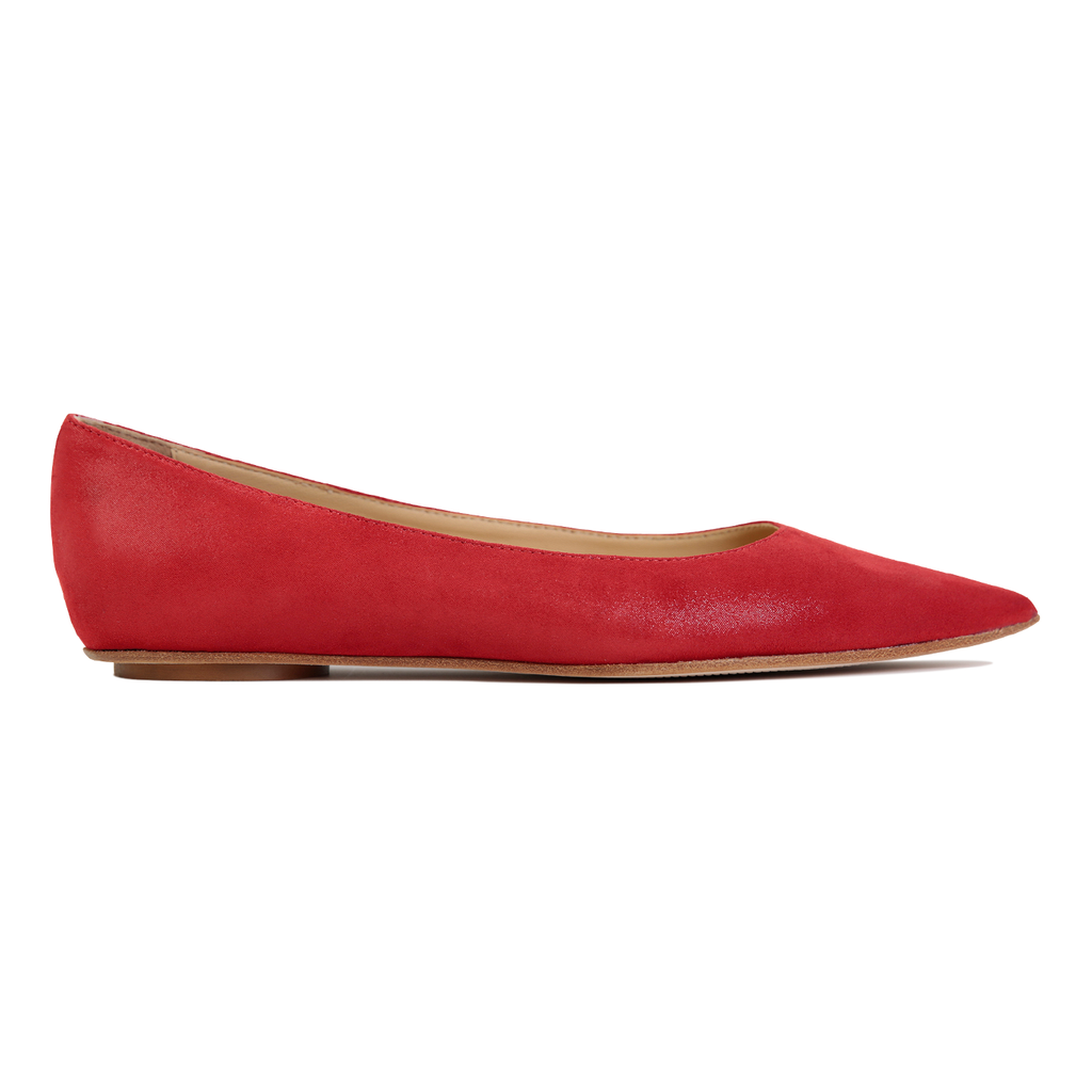 COMO - Hydra Rosso, VIAJIYU - Women's Hand Made Sustainable Luxury Shoes. Made in Italy. Made to Order.