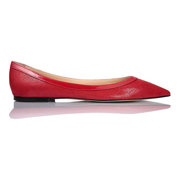 MILANO - Karung Rosso + Patent, VIAJIYU - Women's Hand Made Sustainable Luxury Shoes. Made in Italy. Made to Order.