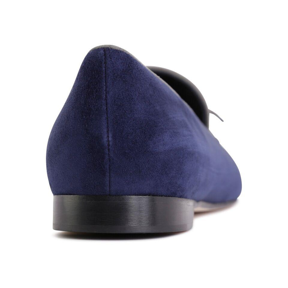 PARMA - Velukid Midnight + Anthracite, VIAJIYU - Women's Hand Made Sustainable Luxury Shoes. Made in Italy. Made to Order.