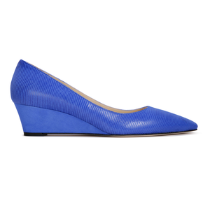 TRENTO - Varanus + Hydra Cobalt, VIAJIYU - Women's Hand Made Sustainable Luxury Shoes. Made in Italy. Made to Order.