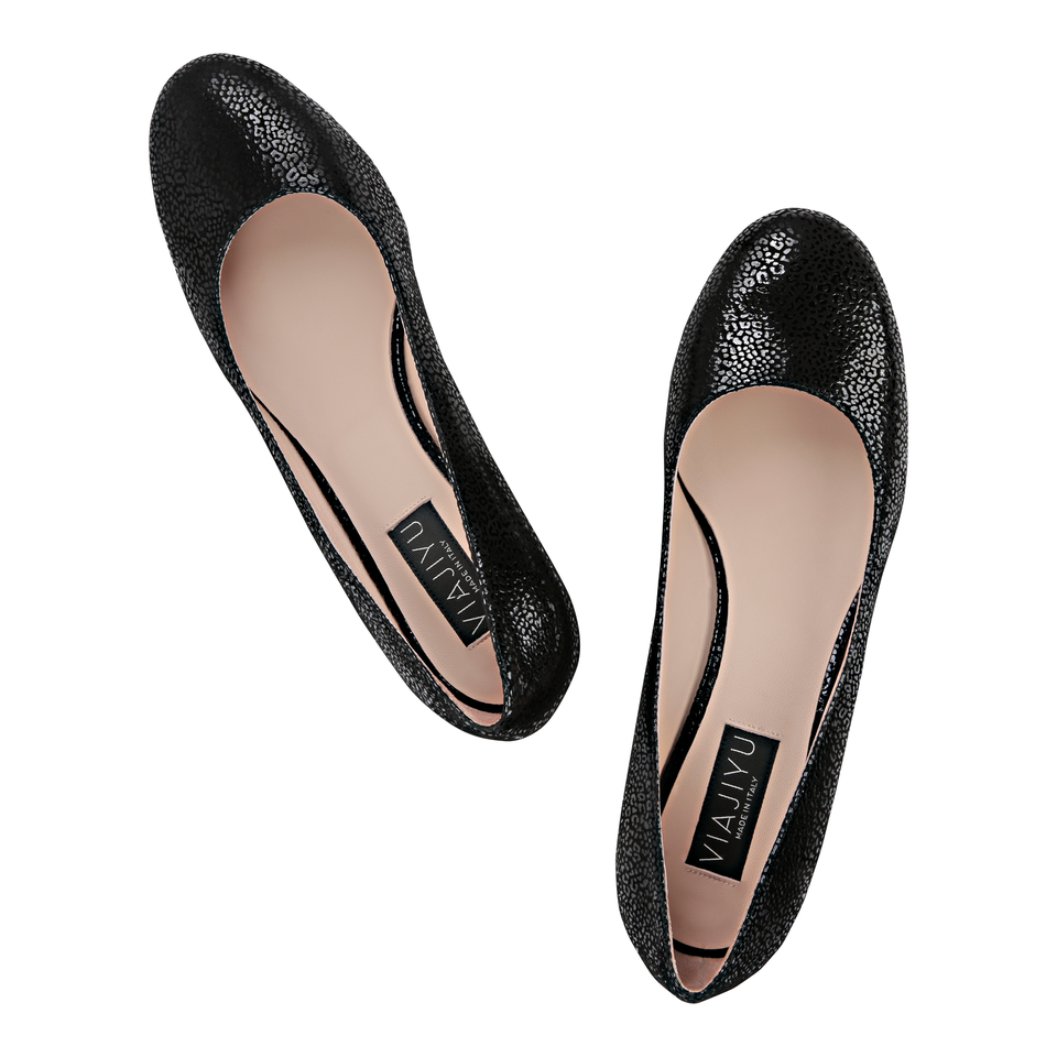 BERGAMO - Savannah Nero, VIAJIYU - Women's Hand Made Sustainable Luxury Shoes. Made in Italy. Made to Order.