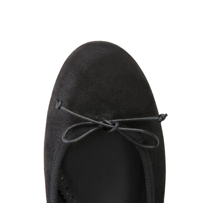 ROMA - Hydra Nero + Drawstring Nero Bow, VIAJIYU - Women's Hand Made Sustainable Luxury Shoes. Made in Italy. Made to Order.