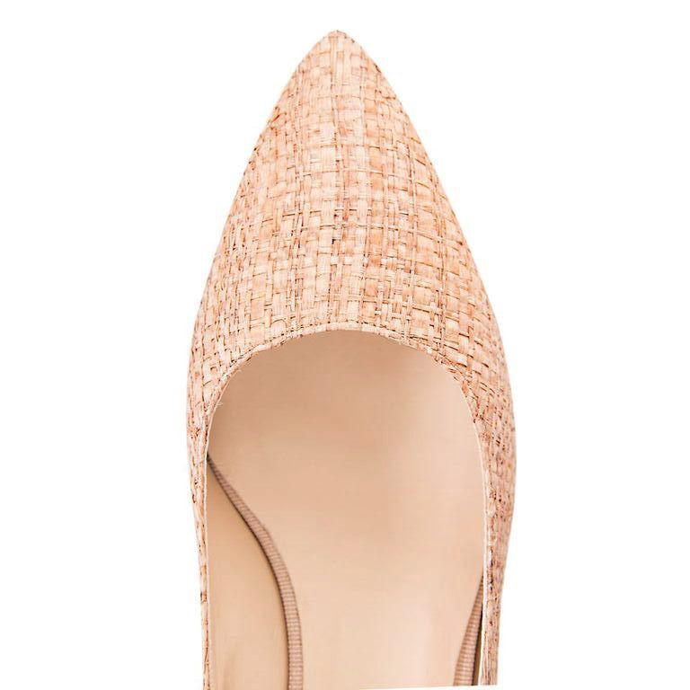TRENTO - Raffia Natural, VIAJIYU - Women's Hand Made Sustainable Luxury Shoes. Made in Italy. Made to Order.