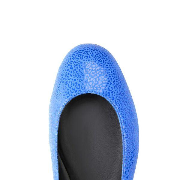 TORINO - Savannah Cobalt  + Patent Nero, VIAJIYU - Women's Hand Made Sustainable Luxury Shoes. Made in Italy. Made to Order.