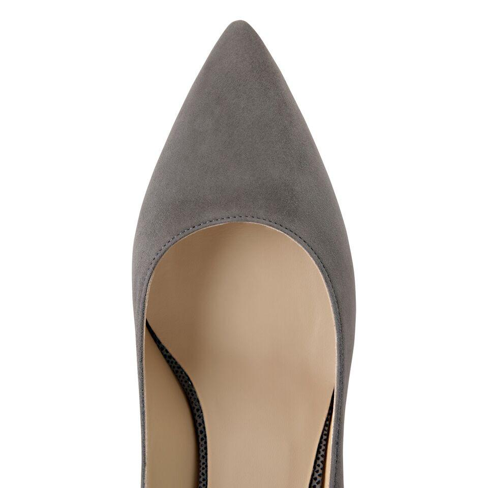 TRENTO - Velukid + Karung Anthracite, VIAJIYU - Women's Hand Made Sustainable Luxury Shoes. Made in Italy. Made to Order.
