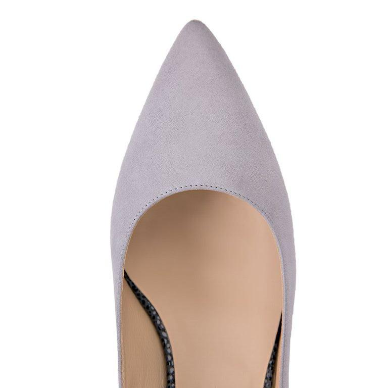 TRENTO - Velukid Grigio + Savannah Anthracite, VIAJIYU - Women's Hand Made Sustainable Luxury Shoes. Made in Italy. Made to Order.