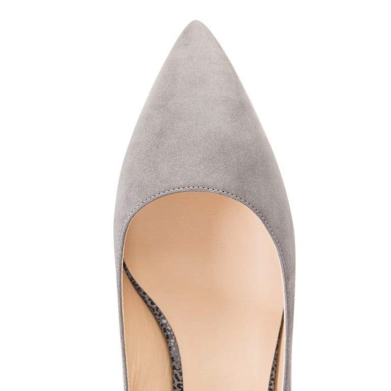 TRENTO - Hydra + Savannah Grigio, VIAJIYU - Women's Hand Made Sustainable Luxury Shoes. Made in Italy. Made to Order.