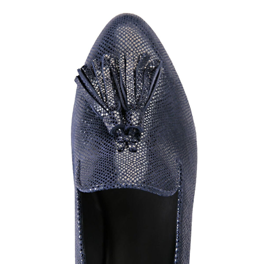 PARMA - Karung Midnight, VIAJIYU - Women's Hand Made Sustainable Luxury Shoes. Made in Italy. Made to Order.