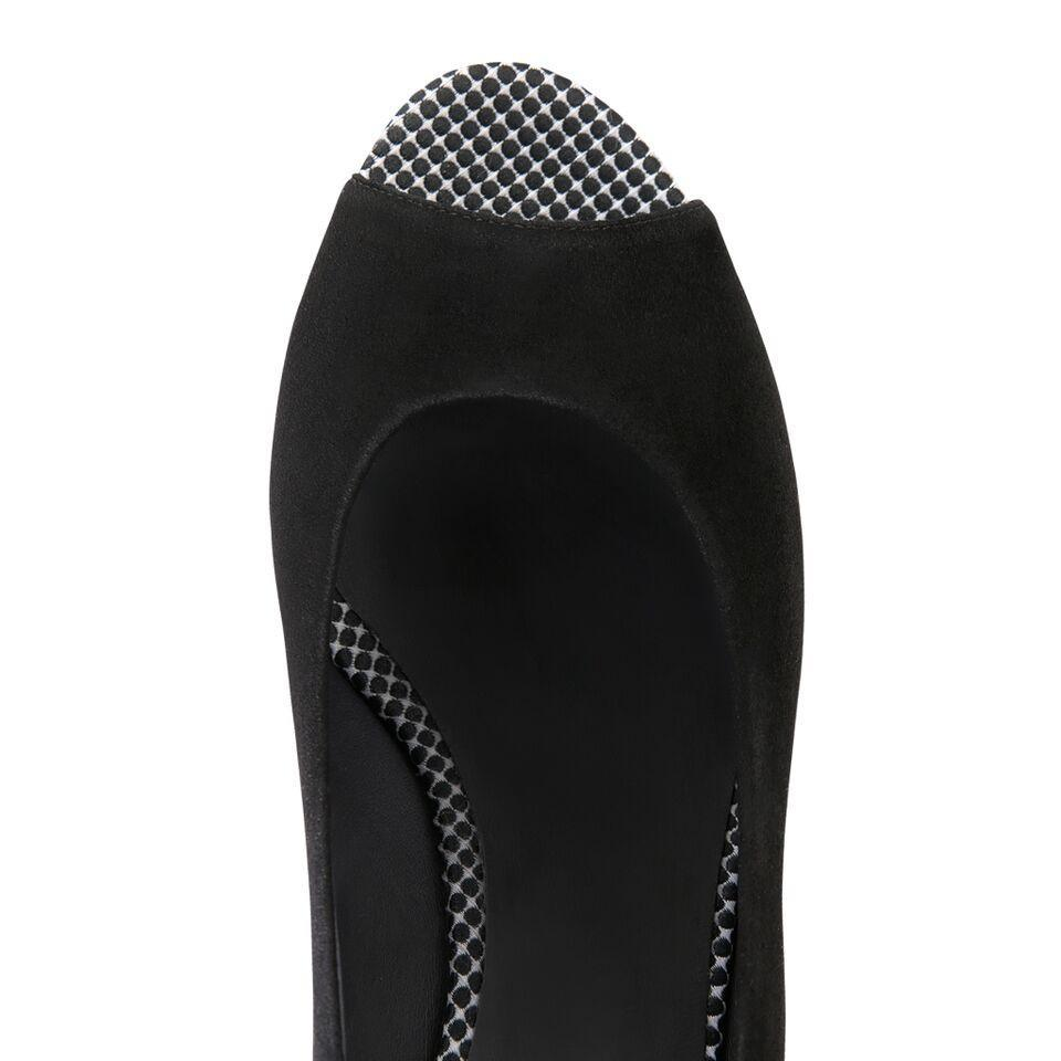 SARDINIA - Velukid Nero + Textile White Dots on Nero, VIAJIYU - Women's Hand Made Sustainable Luxury Shoes. Made in Italy. Made to Order.