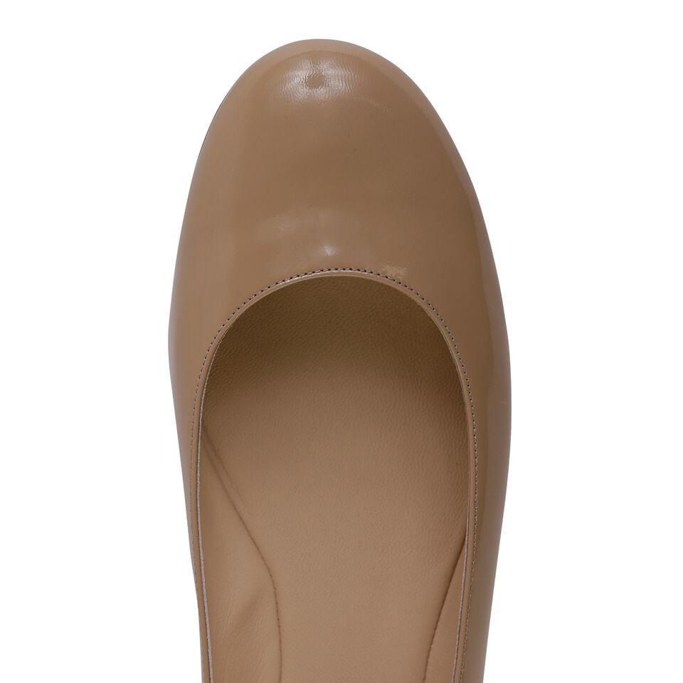 VENEZIA - Patent Dark Tan, VIAJIYU - Women's Hand Made Sustainable Luxury Shoes. Made in Italy. Made to Order.