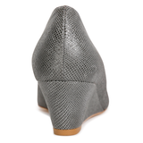 TRENTO - Karung Anthracite, VIAJIYU - Women's Hand Made Sustainable Luxury Shoes. Made in Italy. Made to Order.