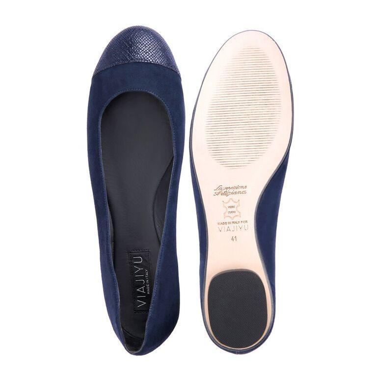 VENEZIA - Velukid Midnight + Karung Toe, VIAJIYU - Women's Hand Made Sustainable Luxury Shoes. Made in Italy. Made to Order.