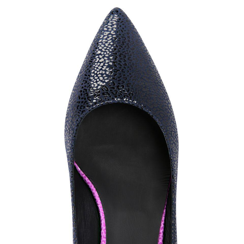 TRENTO - Savannah Midnight + Orchid Back Cap + Wedge, VIAJIYU - Women's Hand Made Sustainable Luxury Shoes. Made in Italy. Made to Order.