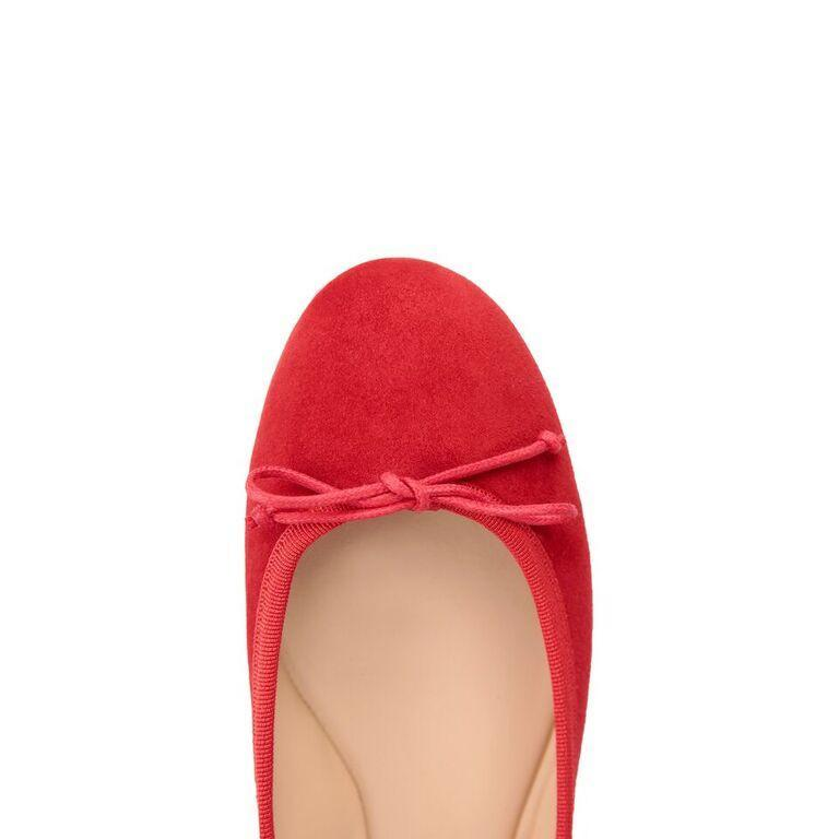 VENEZIA - Velukid Rosso + Drawstring Bow, VIAJIYU - Women's Hand Made Sustainable Luxury Shoes. Made in Italy. Made to Order.