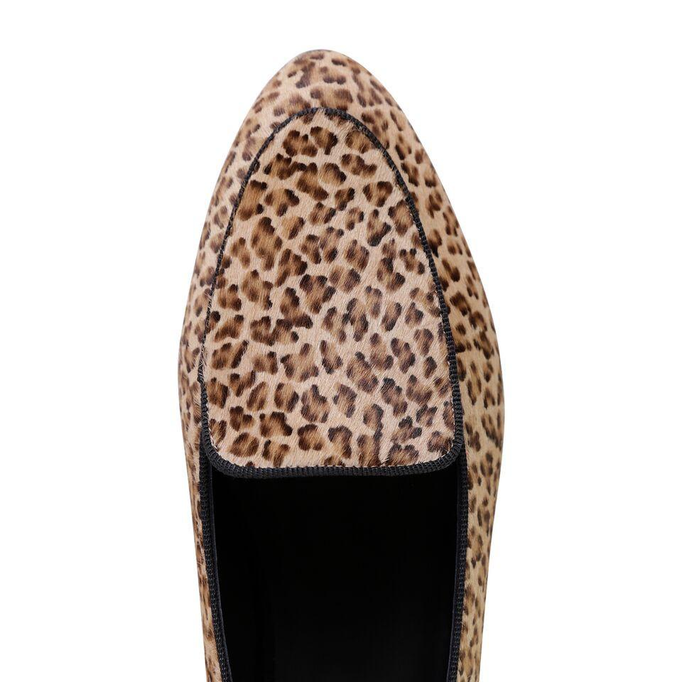 REGGIO - Calf Hair Dune Minipard, VIAJIYU - Women's Hand Made Sustainable Luxury Shoes. Made in Italy. Made to Order.