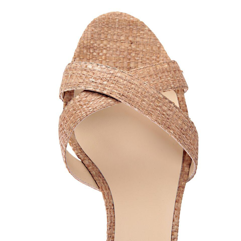 SORRENTO - Raffia Natural, VIAJIYU - Women's Hand Made Sustainable Luxury Shoes. Made in Italy. Made to Order.