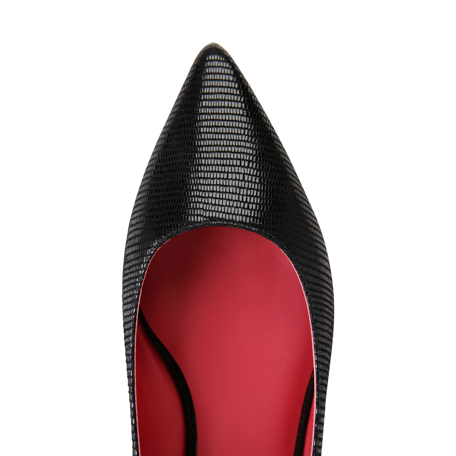 COMO - Varanus Nero + Red Inside, VIAJIYU - Women's Hand Made Sustainable Luxury Shoes. Made in Italy. Made to Order.