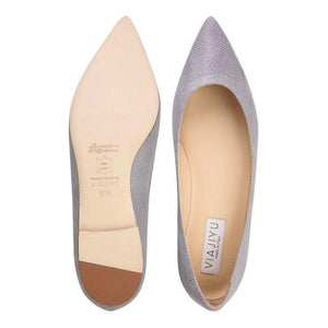 MILANO - Karung Grigio, VIAJIYU - Women's Hand Made Sustainable Luxury Shoes. Made in Italy. Made to Order.