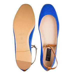 TORINO - Savannah Cobalt - Calf Cuoio, VIAJIYU - Women's Hand Made Sustainable Luxury Shoes. Made in Italy. Made to Order.