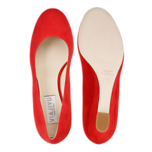 BERGAMO - Velukid Rosso, VIAJIYU - Women's Hand Made Sustainable Luxury Shoes. Made in Italy. Made to Order.