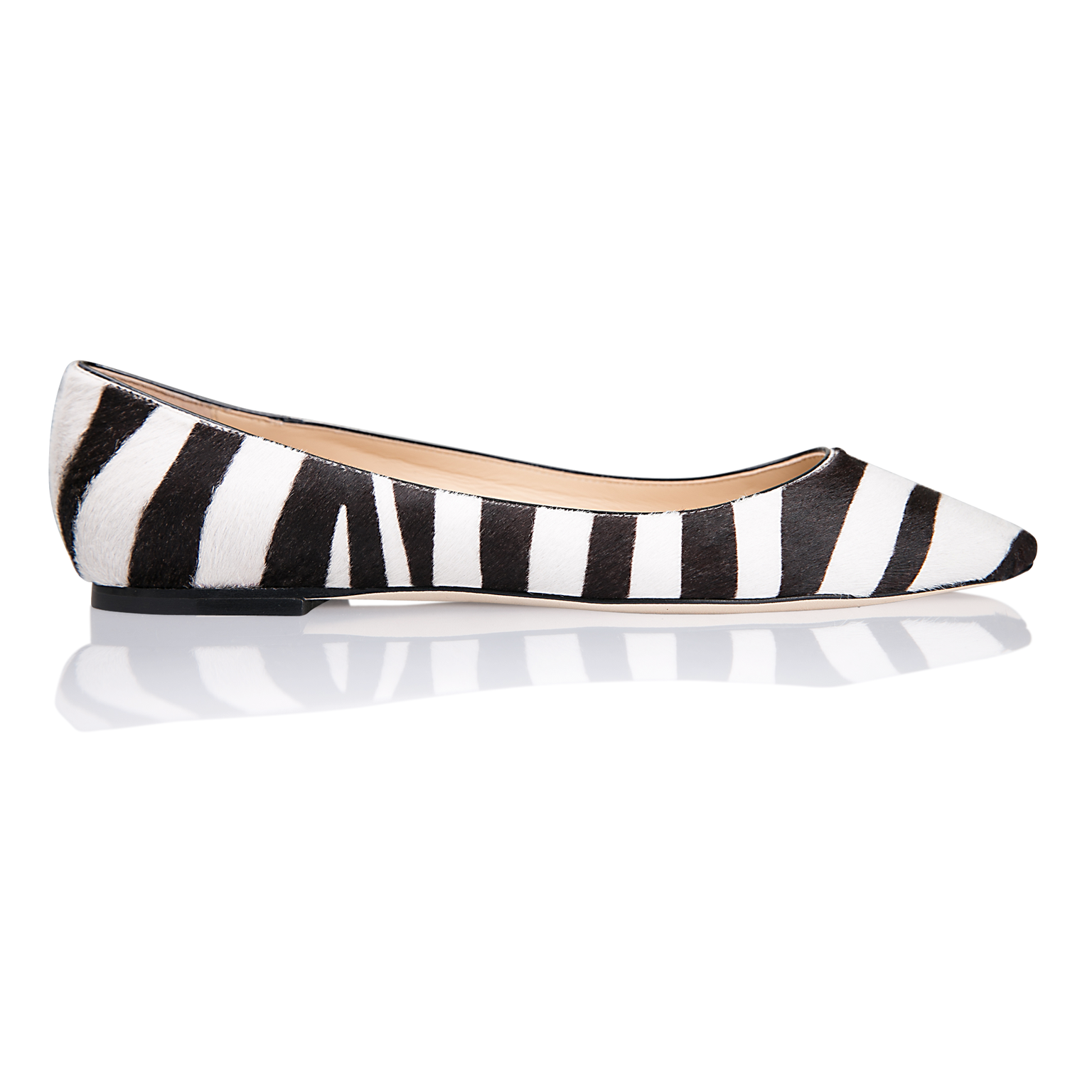 SIENA - Calf Hair Zebra, VIAJIYU - Women's Hand Made Sustainable Luxury Shoes. Made in Italy. Made to Order.