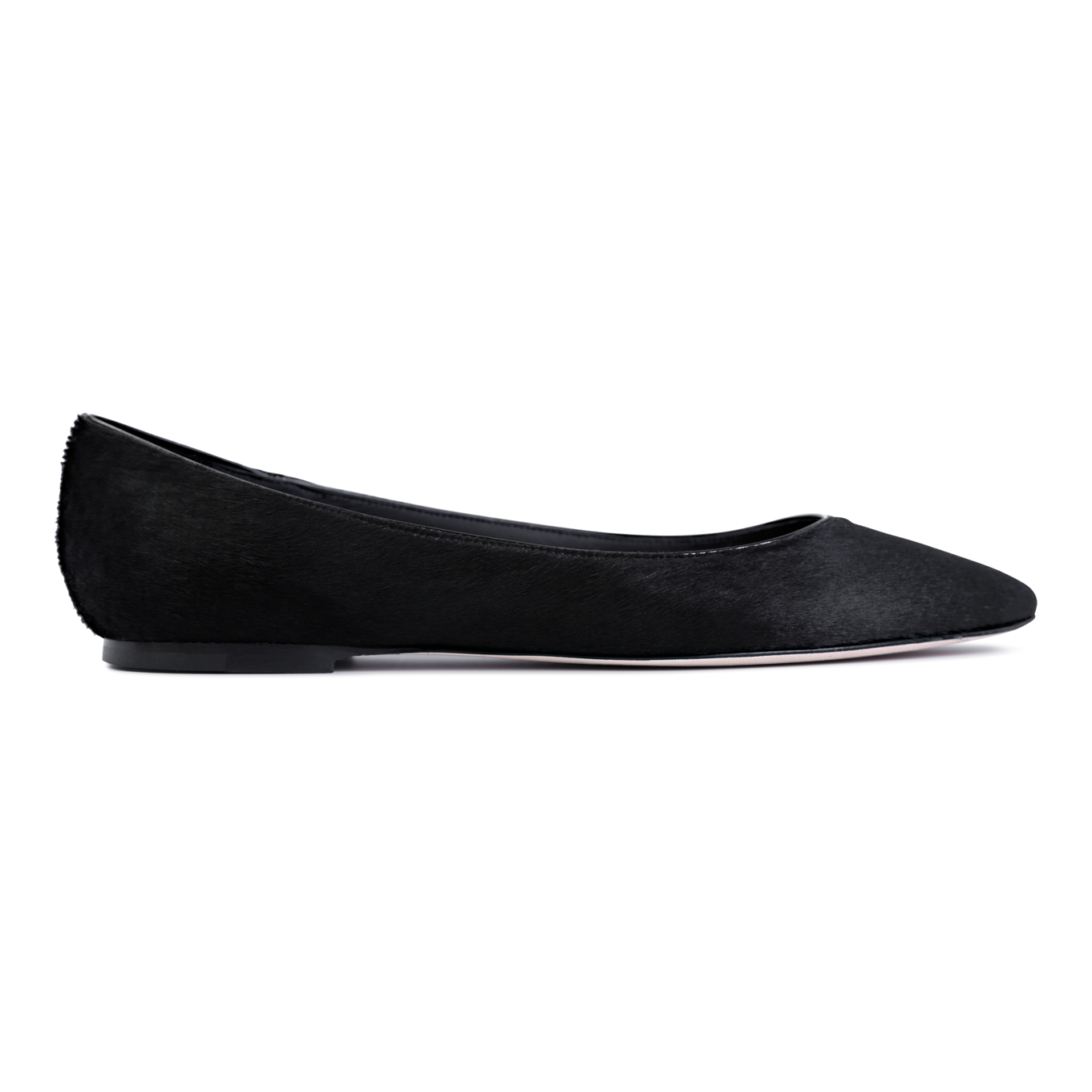 SIENA - Calf Hair Nero, VIAJIYU - Women's Hand Made Sustainable Luxury Shoes. Made in Italy. Made to Order.