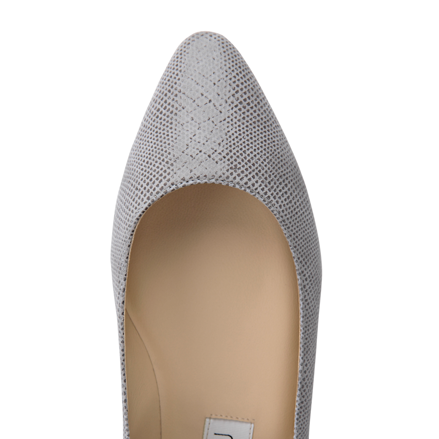 SIENA - Karung Grigio + Metallic Argento, VIAJIYU - Women's Hand Made Sustainable Luxury Shoes. Made in Italy. Made to Order.