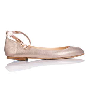 TORINO - Burma Rose Gold + Metallic Copper, VIAJIYU - Women's Hand Made Sustainable Luxury Shoes. Made in Italy. Made to Order.