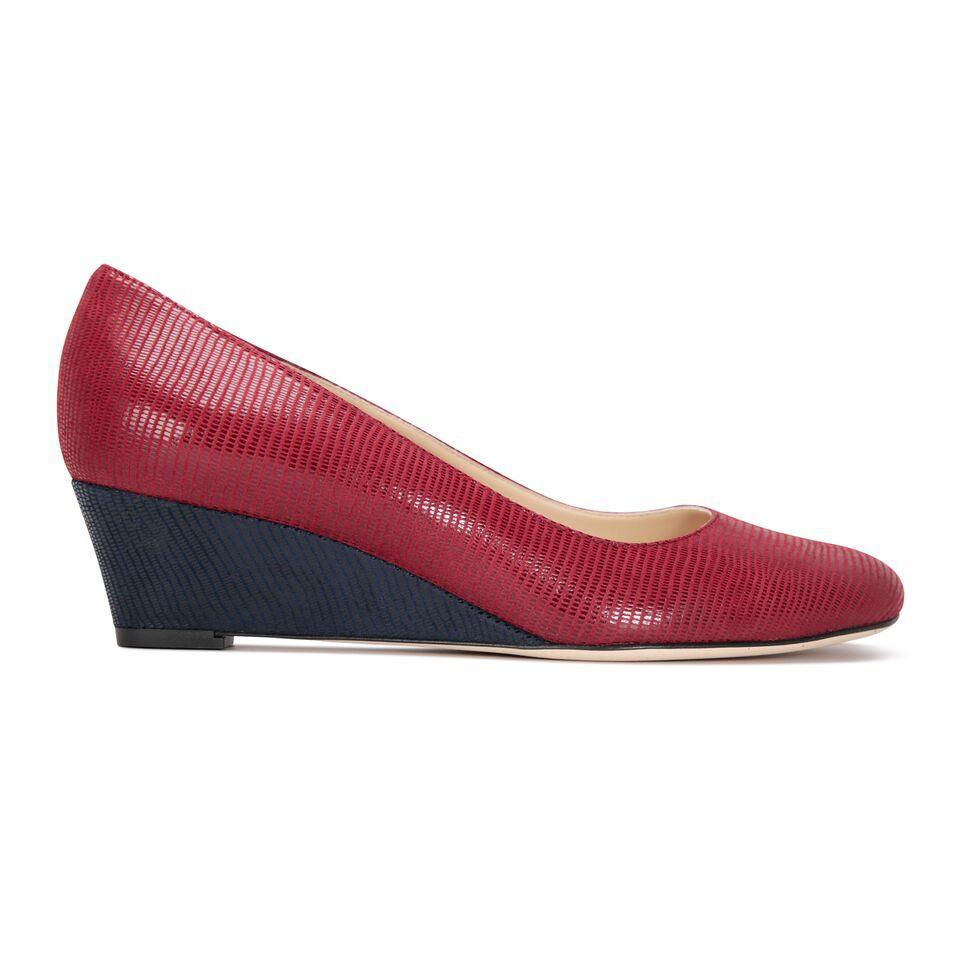 BERGAMO - Varanus Bordeaux + Varanus Midnight, VIAJIYU - Women's Hand Made Sustainable Luxury Shoes. Made in Italy. Made to Order.