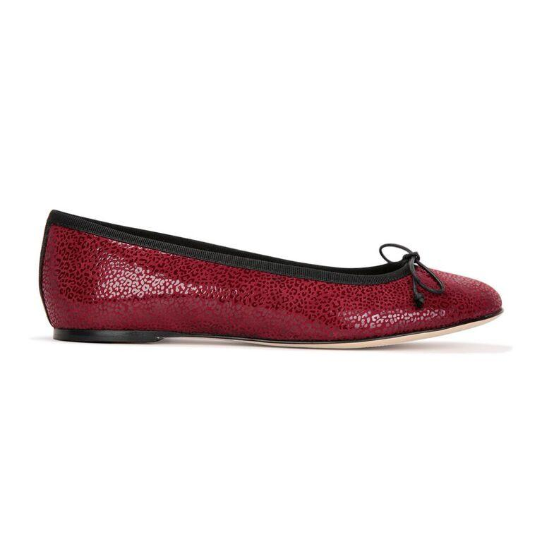 ROMA - Savannah Bordeaux + Drawstring Nero Bow, VIAJIYU - Women's Hand Made Sustainable Luxury Shoes. Made in Italy. Made to Order.